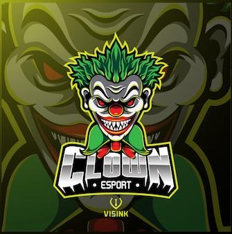 Logo della mascotte sportiva clown