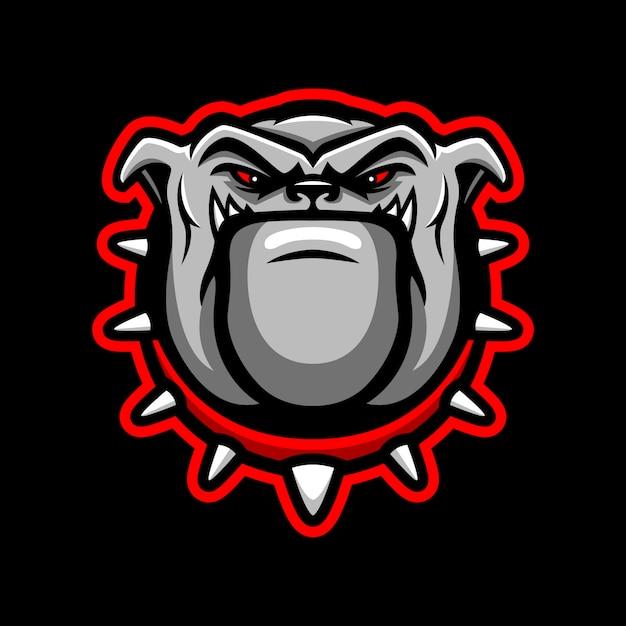 Logo della mascotte testa di bulldog