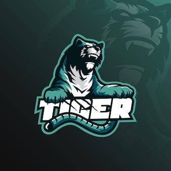 Logo della mascotte tigre