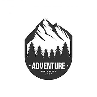 Logo della montagna avventura