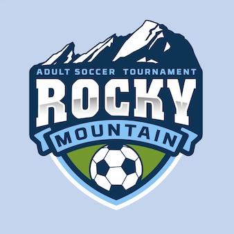 Logo della montagna rocciosa