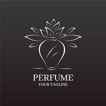 Logo della società commerciale argento vaso e fiore