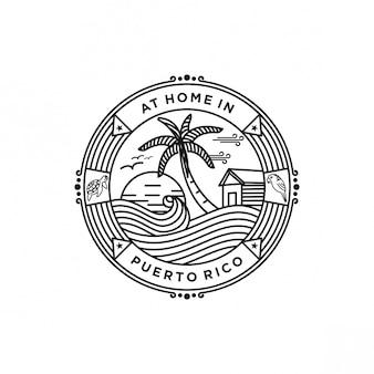 Logo della spiaggia di puerto rico