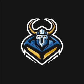 Logo della squadra di e-sport con viking