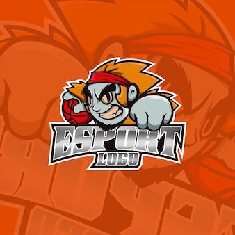 Logo della squadra di scimmia