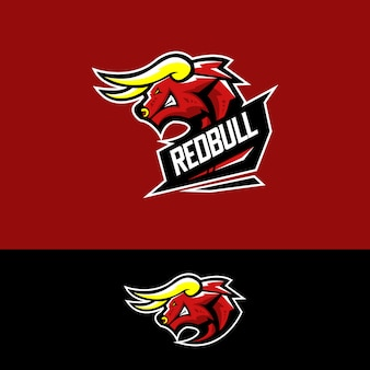 Logo della squadra di sport elettronici con toro rosso