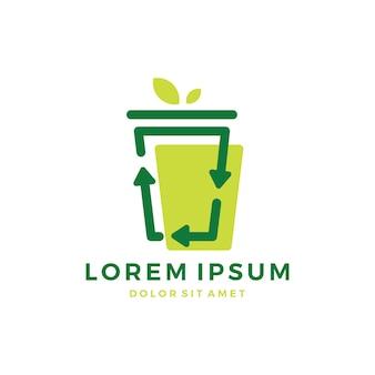 Logo della tazza di riciclo della tazza