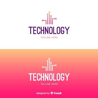 Logo della tecnologia in stile sfumato