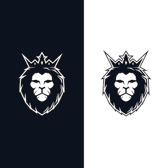 Logo della testa del re leone