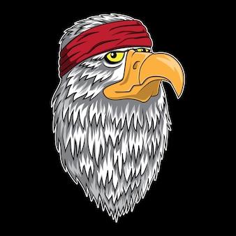 Logo della testa di eagle chief