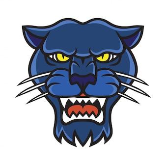 Logo della testa di pantera nera