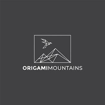 Logo delle montagne origami