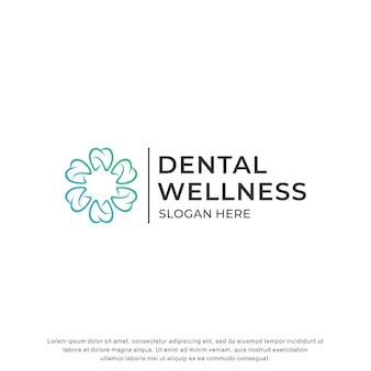 Logo dentale ispirazione design moderno