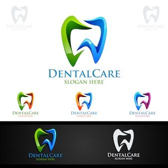 Logo dentario, dentista stomatology logo