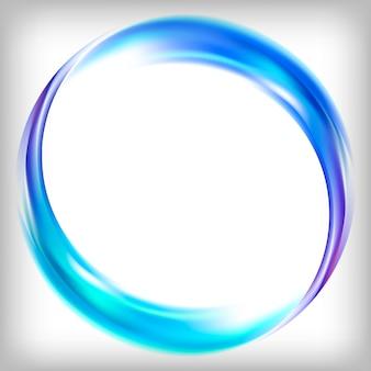 Logo design astratto in blu