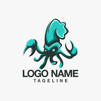 Logo design calamari