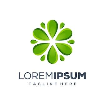 Logo design concept foglia premium