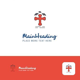 Logo design creativo della tomba