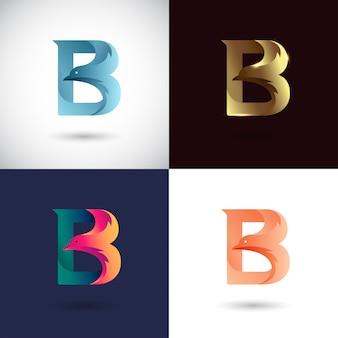 Logo design creativo lettera b.