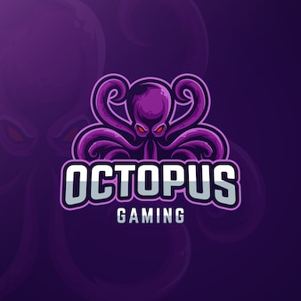 Logo design da gioco con polpo