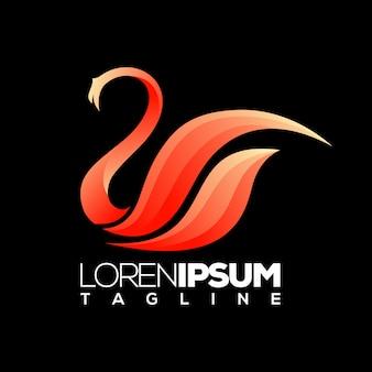 Logo design del cigno
