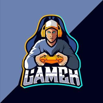 Logo design del giocatore esportatore