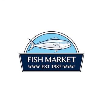 Logo design del mercato del pesce