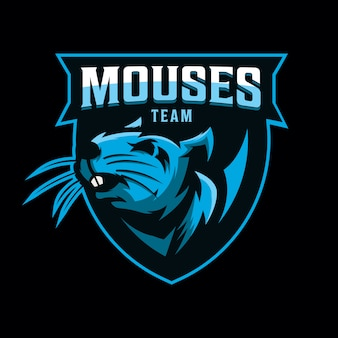 Logo design del mouse per lo sport di gioco