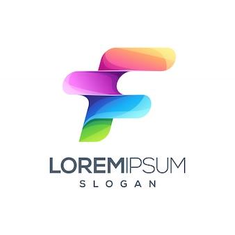 Logo design della lettera f.