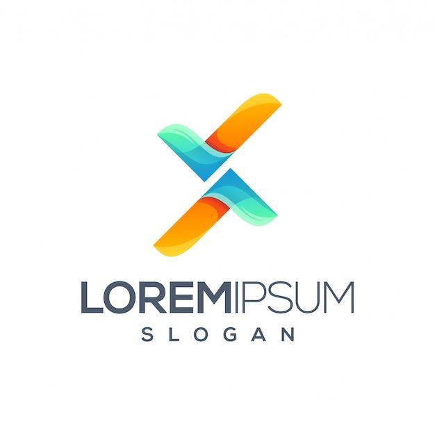 Logo design della lettera x.