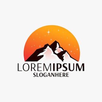 Logo design della montagna