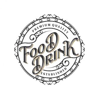 Logo design di cibi e bevande per l'etichetta del marchio