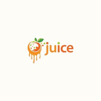 Logo design di succo di frutta. logo della bevanda fresca - vettore