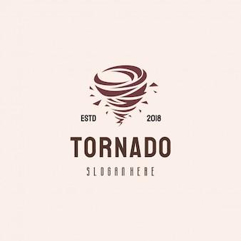 Logo design di tornado, concetto di modello di logo di tifone