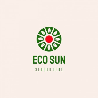 Logo design eco natura sole