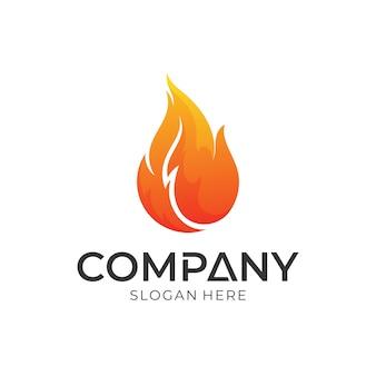 Logo design fiamma di fuoco