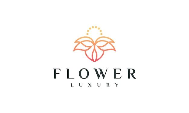 Logo design fiore di lusso