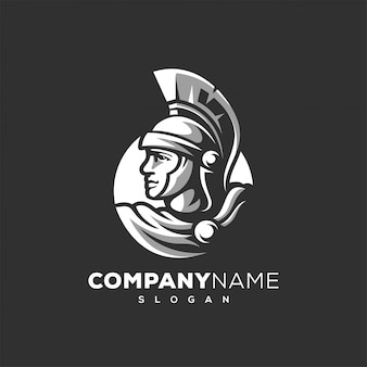 Logo design guerriero spartano