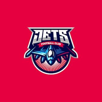Logo design jets per gli sport di gioco