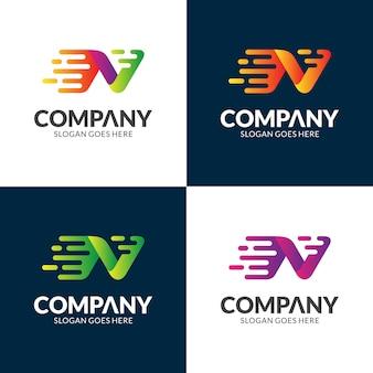 Logo design lettera v veloce