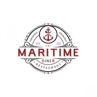 Logo design maritime cafe