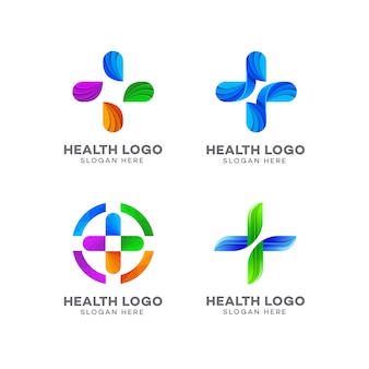 Logo design medico, farmacia, salute, ospedale