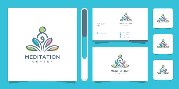 Logo design meditazione yoga