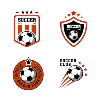 Logo design modello di calcio