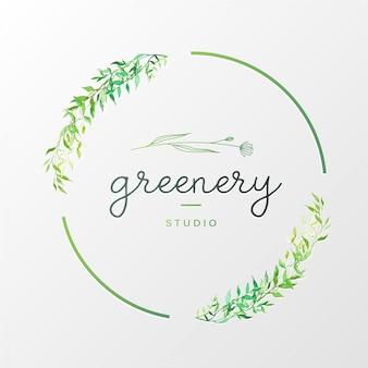 Logo design naturale per il marchio e l'identità aziendale