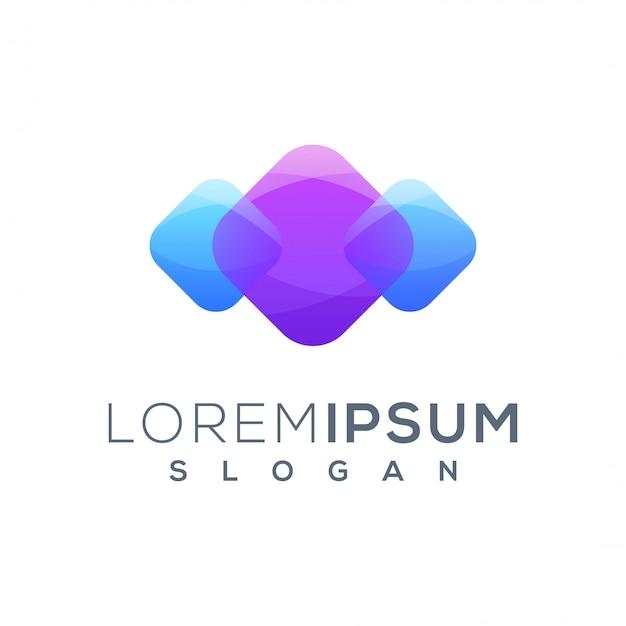 Logo design social media pronto per l'uso