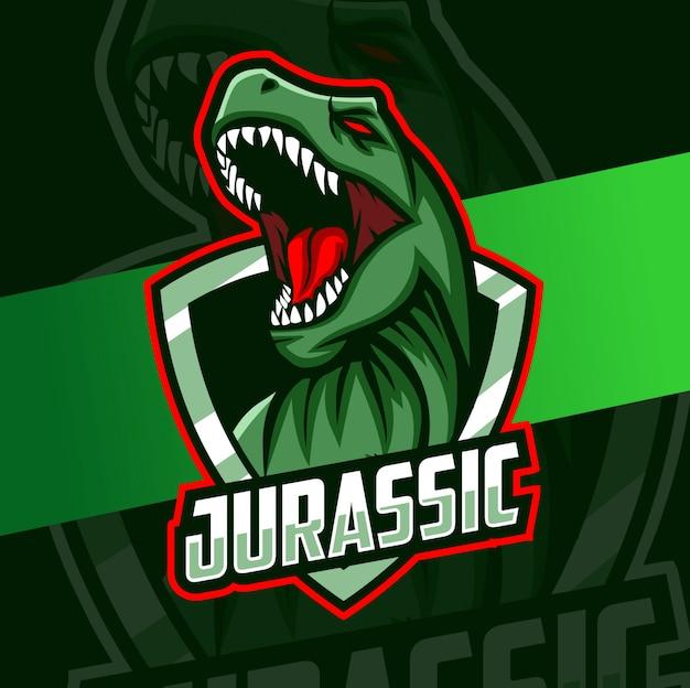 Logo design trex mascotte esport