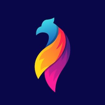 Logo design uccello colorato