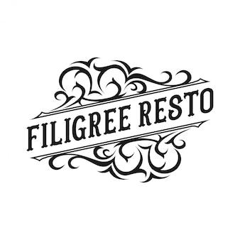 Logo design vintage per ristorante