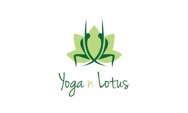 Logo design yoga con fiore di loto